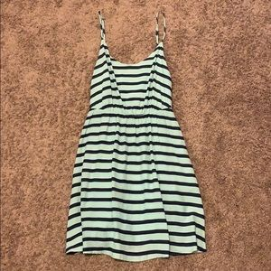 Lauren Conrad Blue/Mint Striped Dress w/ Pockets